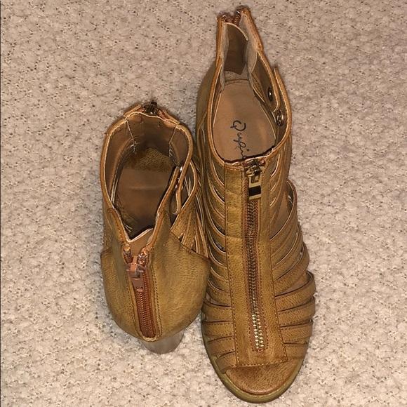 Qupid Shoes - Qupid Block Heel